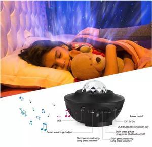Image 4 - Oceano onda projetor céu estrelado noite bluetooth usb voz led night light controle remoto tf cartão leitor de música lâmpada romântica presente