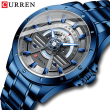 Clock Male Watches Quartz Branded-Wristwatch Stainless-Steel Creative Mens CURREN Casual