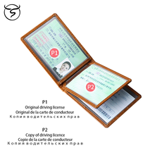 Genuine leather Drivers License Wallet Top Quality Card Holder for Driving License Trifold for men women teemzone promotion top genuine leather trifold slim men wallet purse driver license credit card receipt holder id window j50