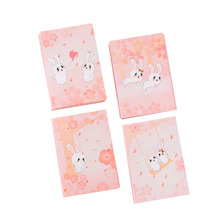1pack Cartoon bunny sticky notes N times sticky notes Memo Creative Notepad School Supplies Gifts for Girls