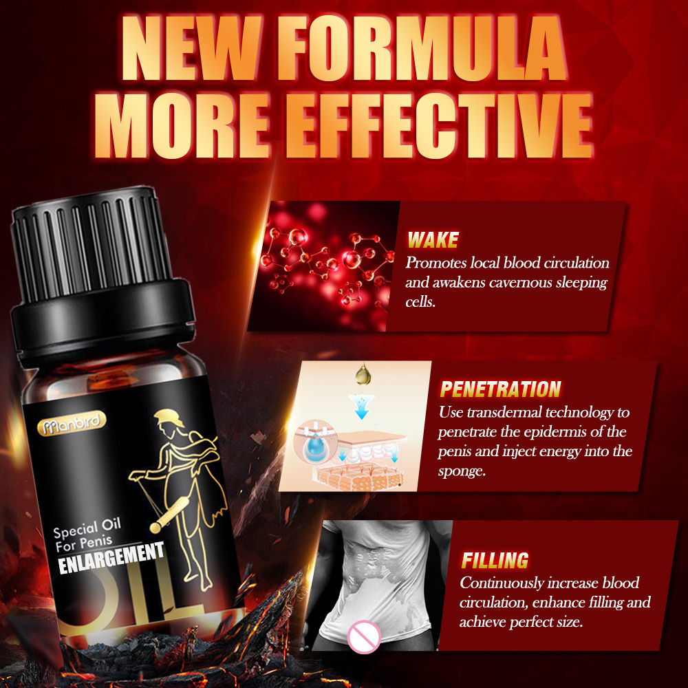 Manbird Natural Plant Extracts Penis Enlargement Pills Sex Delay Cream Lubricant for Men Increase Big Dick Growth Thickening Oil