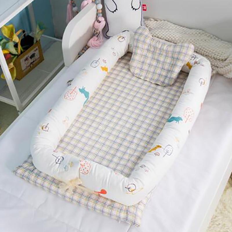 Newborn Baby Nest Crib Sleeping Infant Portable Crib Bed Basket Anti-rollover Portable Cot Cotton YHM002