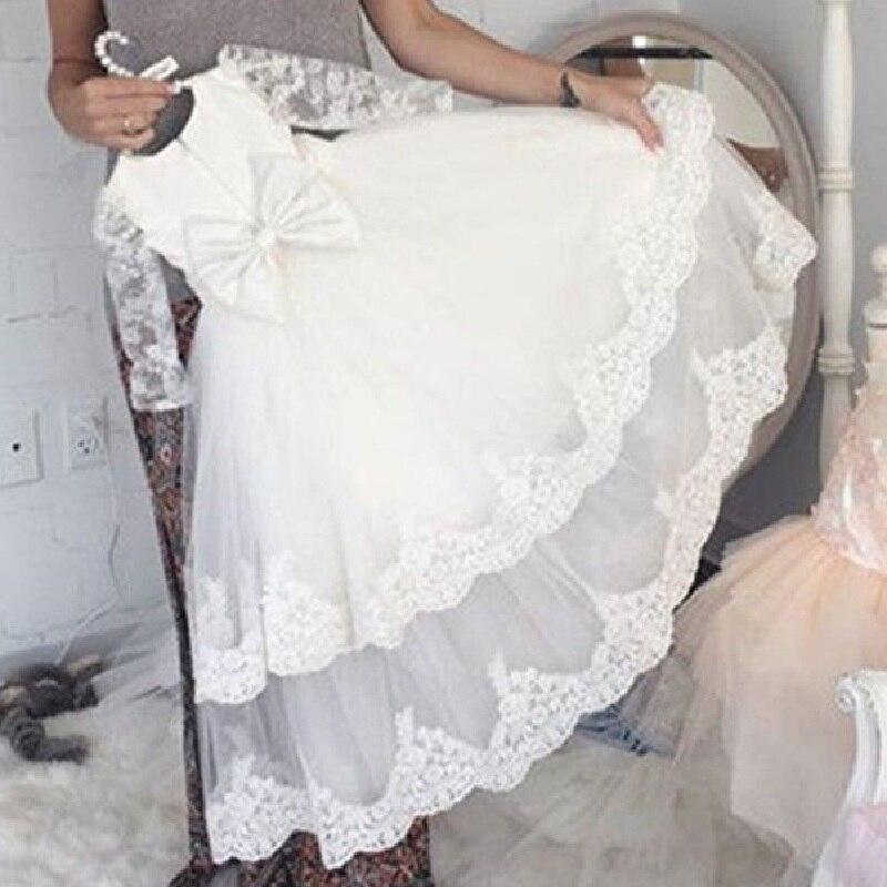 Платья с длинными рукавами и цветочным узором для девочек трапециевидные пышные платья с кружевной аппликацией для девочек, многоярусные ю...