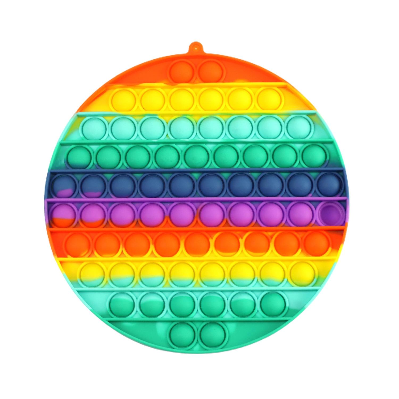 Fidget-Toys Antistress-Toy Bubble Square Figet Squishy Sensory Rainbow-Push Popsits Big-Size img2