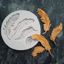 #20 Silicone Feather Fondant Mould Cake Animal Birds Plume Chocolate Baking DIY Mold Polymer Clay Reverse Sugar Molding