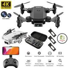 S66 mini rc drone 4k 1080p hd câmera dupla fpv wifi um-chave retorno altura modo de espera quadcopter helicóptero de pressão de ar brinquedo da criança