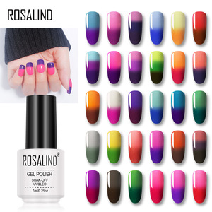 ROSALIND Gel Temperature Changing Color Gel Nail Polish Set All For Manicure UV &LED Lamp Gel Varnish Primer Design Nail Art(China)
