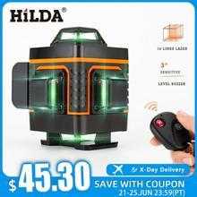 HILDA 12/16 Linien 3/4D Laser Level level Selbst Nivellierung 360 Horizontale Und Vertikale Kreuz Super Leistungsstarke Grün laser Ebene
