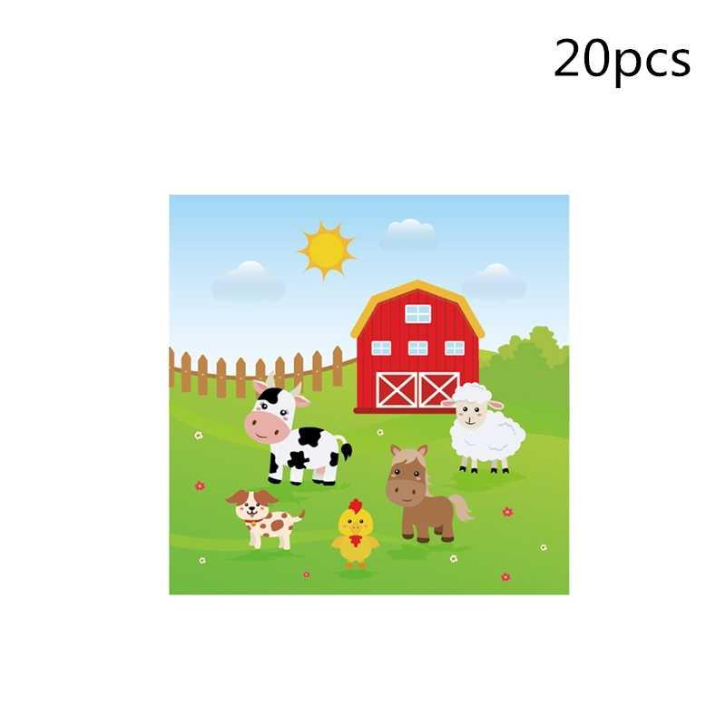 Para niños granja animales fiesta vajilla fiesta decoración suministros, placa taza paja banner favor caja cupcake decoración sombrero pegatina