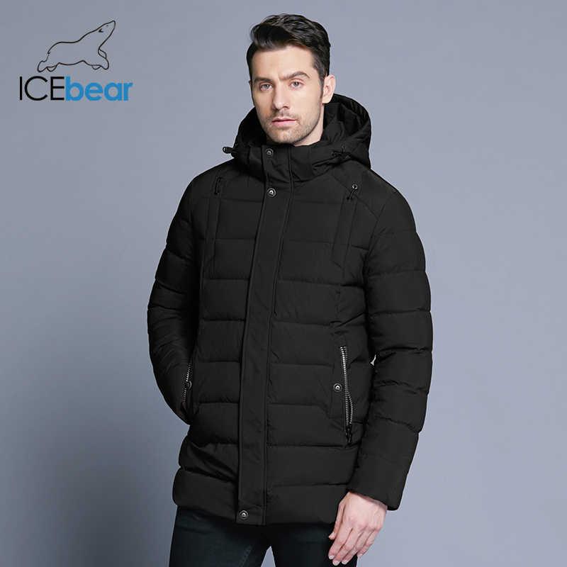 ICEbear 2019 nieuwe mannen winter jas warm afneembare hoed mannelijke korte jas mode casual kleding man merk kleding MWD18813D