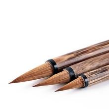 Multiple Hair Chinese Painting Writing Brush Set Medium Regular Script Calligraphy Handwriting Practice Caligrafia Supply