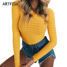 Autumn Bodycon Mesh Bodysuits Feminino Mujer Sexy Stretchy Rompers Long Sleeve Women Body Streetwear Jumper Tops One Piece GV125