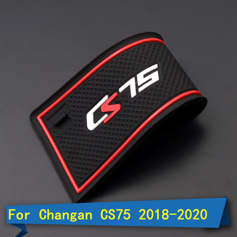 For Changan CS75 2018-2020 Door Slot Pad Mat Rubber Mat Interior Cup Cushion Groove Mat Lnterior Anti Slip Car Accessories