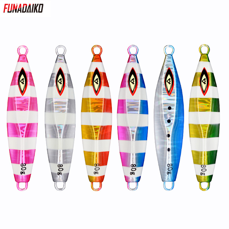 FUNADAIKO Slow <font><b>jig</b></font> lure seafishing shore casting jigging lure artificial glow luminous <font><b>60g</b></font>/80g/100g/150g <font><b>metal</b></font> fishing bait <font><b>jig</b></font> image