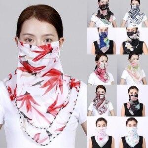Women Cycling Chiffon Face Bandana Sun Chiffon Anti-uv Protection Scarf Dustproof Neck Scarf Windproof Ski Face Bandana Headband