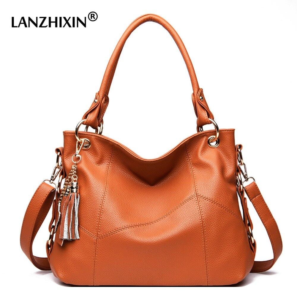 Lanzhixin Women Messenger Bags Women Leather Handbags Designer Crossbody Bags Tote Shoulder Bags Bolsas Feminina Top-handle Bags