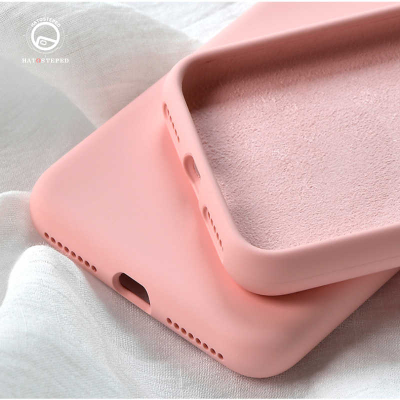 For Iphone 11 Pro Max 7 8 X Solid Color Washable Phone Case For IPhone 11 Pro X XS MAX XR 7 8 Plus 6 6S Soft Silicone Cover Case