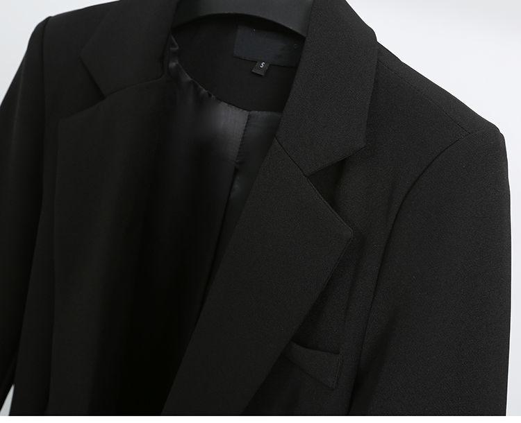 Elegant Black Single Button Women Blazer Jacket 6