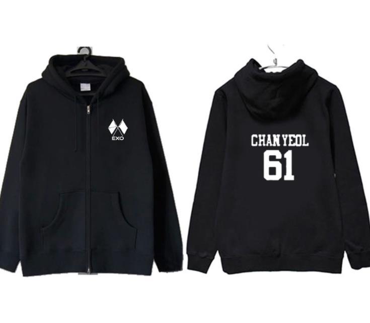 Kpop Exo Luhan Reloaded CAP SWEAT À CAPUCHE Pull Unisexe Manteau New Outwear Jacket