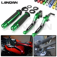 For Yamaha FZ6N Motorcycle CNC Brake Clutch Lever & 7/8 22MM Handlebar Grips 2004 2005 2006 2007 2008 2009 2010 Accessories