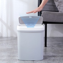 цена Home intelligent automatic induction electric Rubbish trash can smart Waste Bins ashbin kick barrel charging version Trash Can онлайн в 2017 году