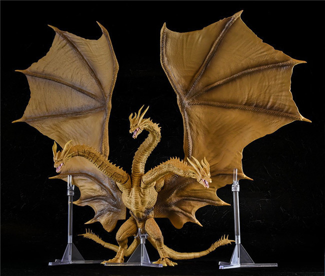 Godzilla Toys Monsterarts Gojira King Of The Monsters King Ghidorah 2nd Movable Dolls Kids Collection Model Gifts 30CM
