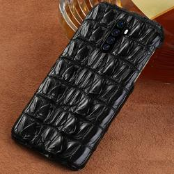 Luxury Real Crocodile Leather Phone Case untuk Realme X2 Pro X2 X XT 5 Pro Cover UNTUK OPPO A5 A9 2020 Reno 2 3 Z Reno Ace R17 K5