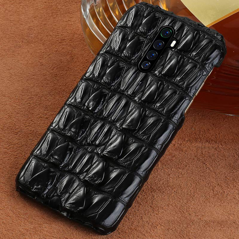 Luxury Real Crocodile Leather Phone Case For Realme X2 Pro X2 X XT 5 Pro Cover For OPPO A5 A9 2020 Reno 2 3 Z Reno Ace R17 K5