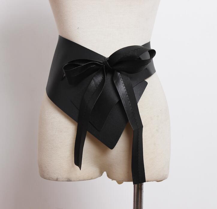 Women's Runway Fashion Pu Leather Cummerbunds Female Dress Corsets Waistband Belts Decoration Wide Belt R2253