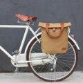 Tourbon Винтажный Велосипед сумка багажник велосипеда Перевозчик Велоспорт парные сумки пакет вощеный водоотталкивающий холст
