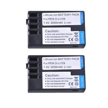2PC 2000mAH D Li109 D Li109 DLi109 נטענת מצלמה סוללה עבור Pentax K R K 2 KR K2 KR K30 K50 k 30 K 50 K500 K 500 Bateria