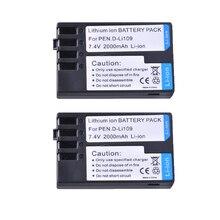Batería de cámara recargable para Pentax D Li109, 2 baterías de 2000mAH, K R D Li109, DLi109, K 2, KR, K2, KR, K30, K50, K 30, K500, K 50