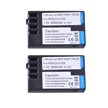 Bateria recarregável câmera para pentax, 2 peças, 2000mah, D Li109 d li109 dli109, K R para pentax K 2 bateria K 30 K 50 k500 K 500