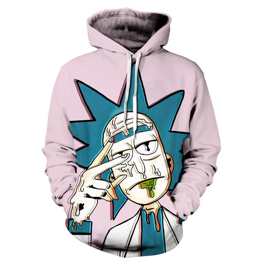 3D Hoodie Cartoon Rick And Morty Printed Hoodie Casual Hoodie Sweatshirt High Quality Street Wear Hoodie Jacket
