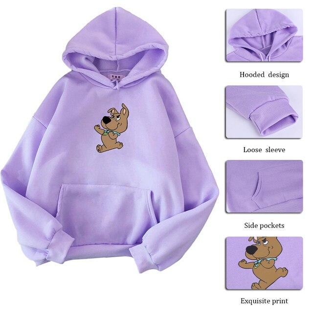 Women Hoodies Casual Planet Print Solid Loose Drawstring Sweatshirt Long Sleeve Hooded 2020 Autumn Female Pullover 4