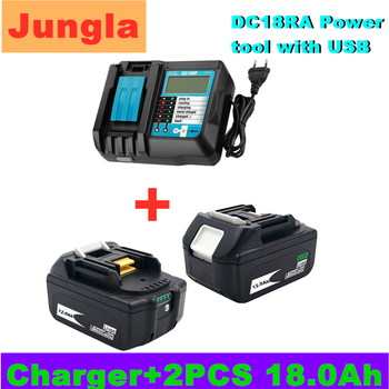 New 18V 12.0Ah 12000mAh Li-Ion Battery Replacement Power Tool for MAKITA BL1880 BL1860 BL1830+3A Charger - discount item  20% OFF Accessories & Parts
