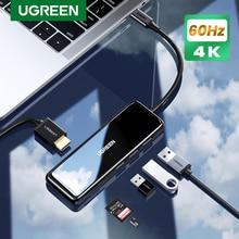 Ugreen USB C HUB 4K @ 60 Гц/30 Гц Type-C к HDMI Мульти USB 3,0 адаптер для MacBook iPad Pro 2020 USB-C 3,1 разветвитель порт Type C HUB