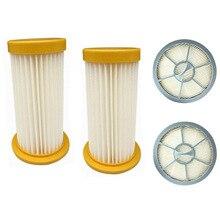 4 pièces/ensembles 2 filtre aspirateur + 2 sortie dair filtre HEPA pour Philips FC8208 FC8250 FC8260 FC8262 FC8264