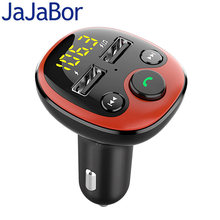 JaJaBor Bluetooth 5,0 Auto Kit Freisprechen FM Transmitter Modulator Musik Mp3 Player Telefon Drahtlose Freisprechanlage Dual USB Auto Ladegerät(China)