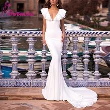 Wedding Dress 2020 Vestido De Noiva Wedding White Ivory Satin Mermaid Bridal Dress Robe Marriage свадебные платьяv