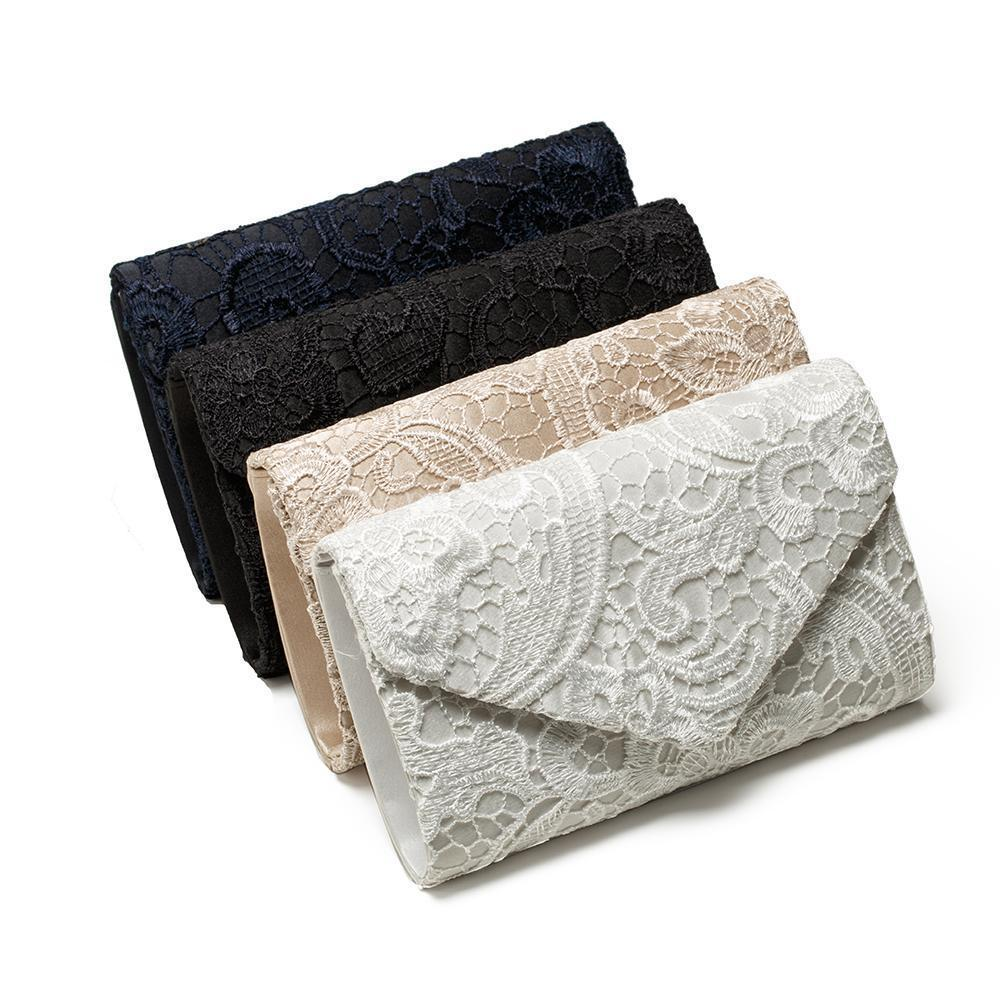 Handbag Clutch-Bag Lace Wedding Purse Floral Bridal Evening-Party Women Ladies New-Fashion title=