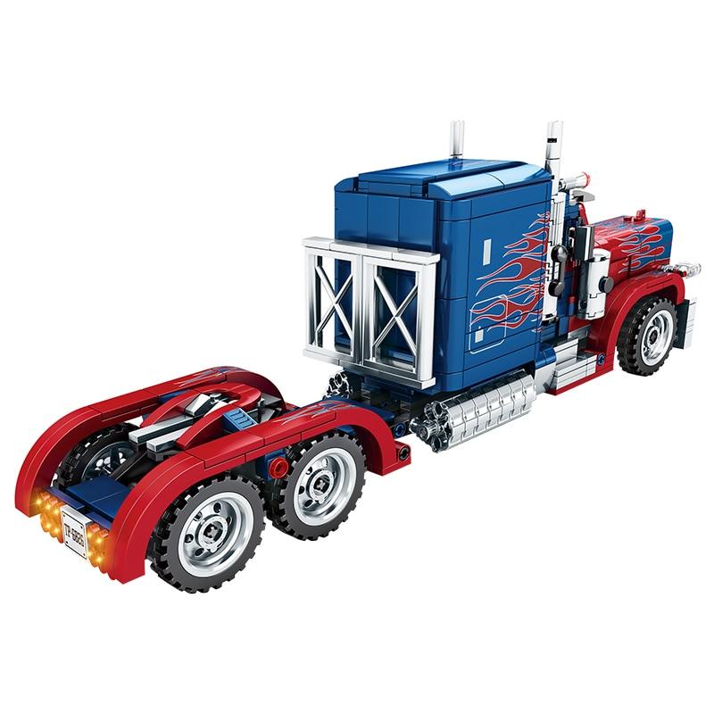 849 Pcs Peterbilt 389 Heavy Container Truck Car Building Blocks Set Bricks Toy