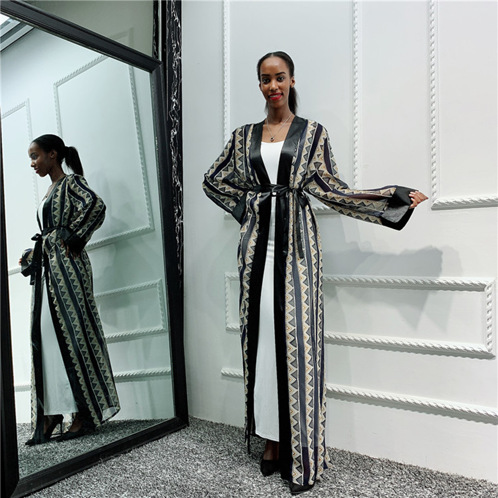 Chiffon Abaya Dubai Kimono Cardigan Muslim Hijab Dress Abayas For Women Kaftan Turkish Islamic Clothing Pakistan Qatar Djellaba