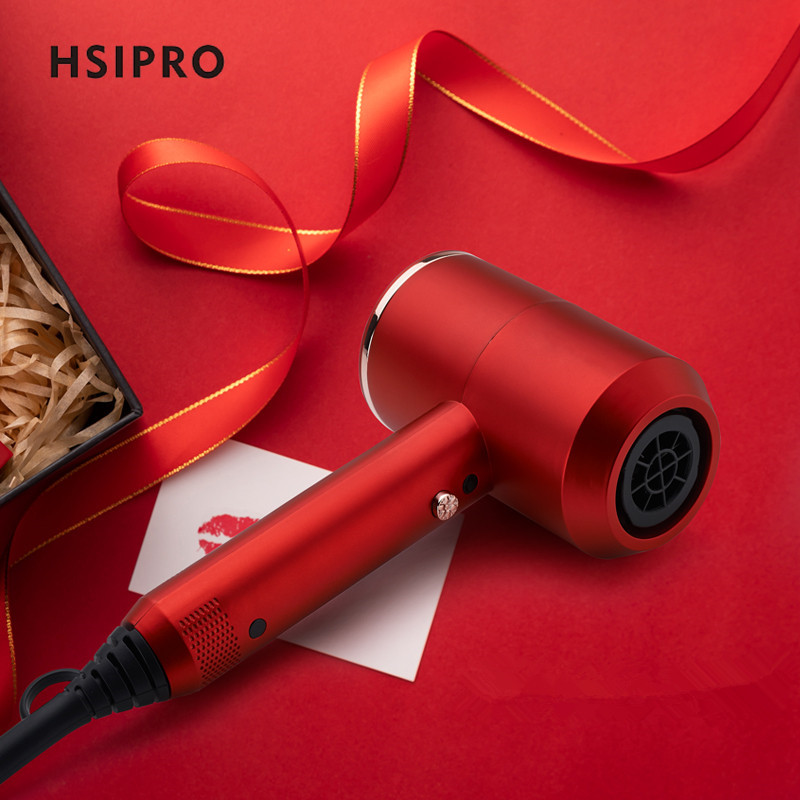 HSIPRO 2000W Electric Hairdryer Hammer Shape Hairdryer Negative Lonic Air Hot /Cold Switch Strong Airflow Overheat Protection