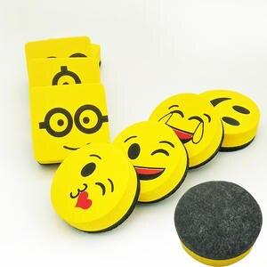 Cleaner Eraser Wipe Marker Whiteboard Smile-Face Randomly Yellow School 6-Styles 4pcs
