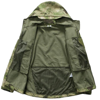 Sniper Camouflage Hunting Clothes Ghillie Suit Outdoors Camping Hiking Waterproof Windbreaker Softshell Fleece Jacket + Pants 3