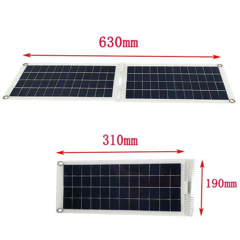 50w dobravel painel solar modulo rv carro 04