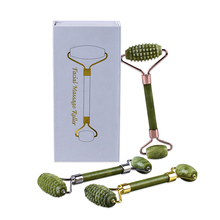 Green Jade Face Roller With Microneedles Gift Box Sets Helu Jade Stone Boby Massager Anti Cellulite