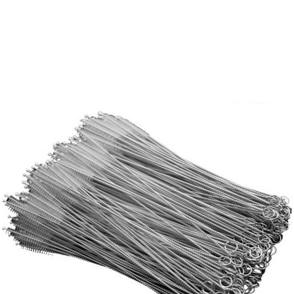 Baby Bottle Straw Cleaning Brush Baby Nipple Brush Stainless Steel Spiral Brush Soft Hair Straw Brush