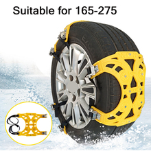 1x 3x 4x Automobile Tire Snow Chains Car tyres Anti-skid Chains Wheel Chain Safety Adjustable PU Winter Use Truck Van ATV